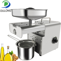 Small Stainless Steel Home Electric Oil Press Machine Family Fully Automatic Hot and Cold Commercial Oil Maker