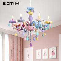 BOTIMI New Arrival Chandelier For Living Room Modern Crystal Lustre Bedroom Lustres Colorful Chandelier Lighting Foyer Lihgts