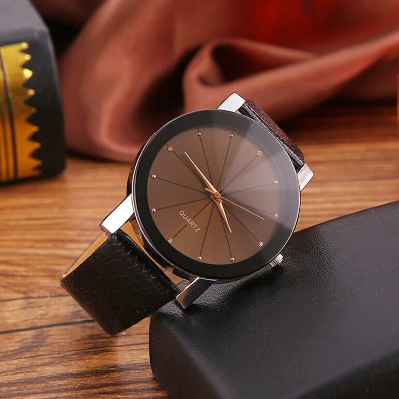New Men And Women Students Fashion Business Casual Wind Watch Couple Watches Diamond Leather Strap