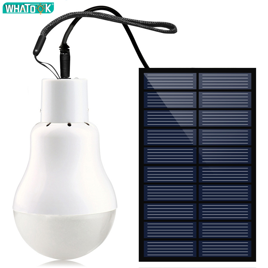 Portable Solar Led Bulb Lamp Charged Solar Energy Lamp 6V Luminaria Solar Panel Powered Bulb Outdoors Camping Tent Fishing Light