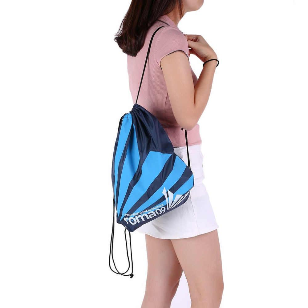 Hazır stok çift katmanlı İpli spor salonu su geçirmez sırt çantaları yüzme spor plaj çantası seyahat taşınabilir katlanabilir Mini omuz çantaları