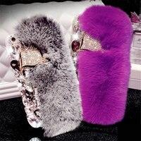 For IPhone 5 5S 6 6S 7 Plus Luxury Girl S Fashion Plush Phone Case Rhinestone