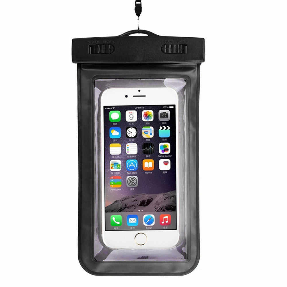 للماء كيس مزموم حالة العالمي 5.5 بوصة الهاتف المحمول حقيبة السباحة حالة اتخاذ الصور تحت الماء ل فون 6/6 زائد هواتف محمولة