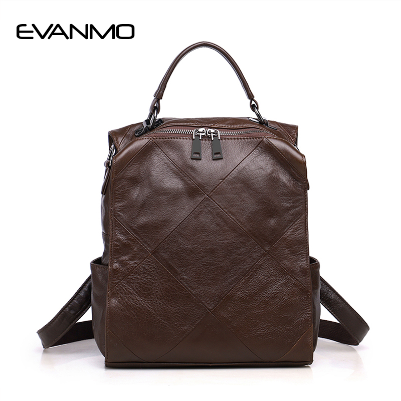 Genuine Leather Casual Women Handbag High Quality Leather Shoulder Bag Multifunction Travel Bag Female Large Capacity Handbag