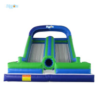 PVC Tarpaulin Inflatable Double slides for kids and adult for sale