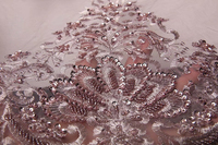 Beautiful African Tulle Lace Net Guipure with bead tube, precious beaded African Net Cord Embroidery Lace For Wedding ppm073