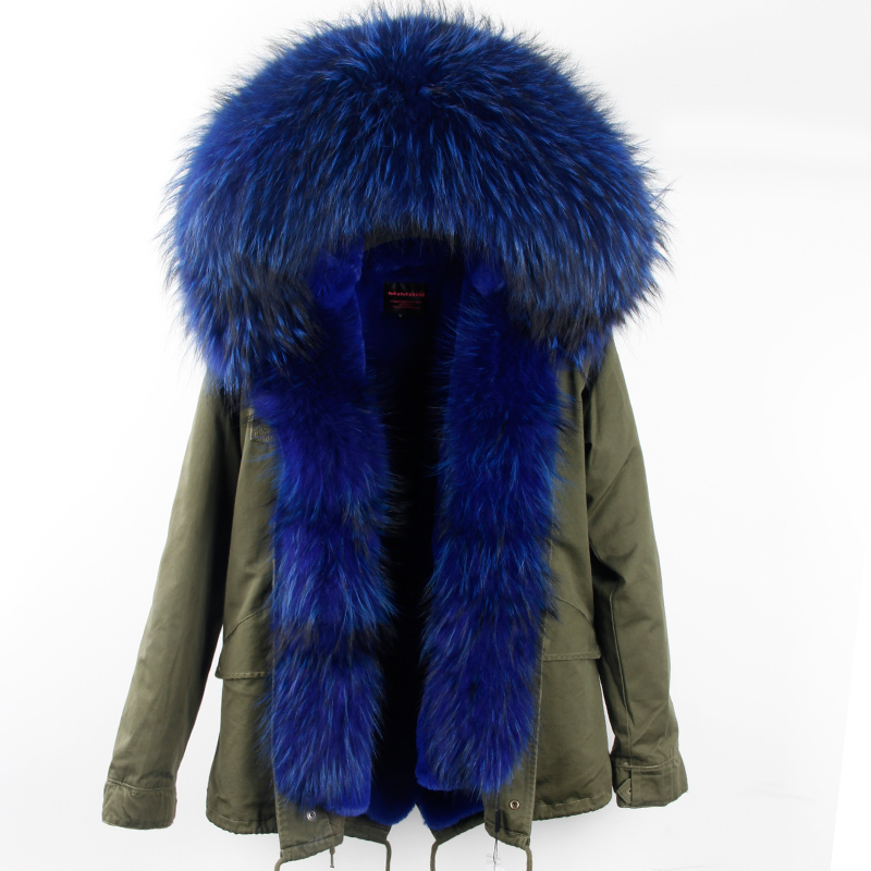 Winter Coat Women 2017 New Army Green Camouflage Parkas With Big Large Real Raccoon Fur Collar Hooded Thick Warm Outwear Brand 5