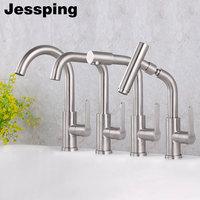 modern bathroom basin faucet deck mounted brushed surface