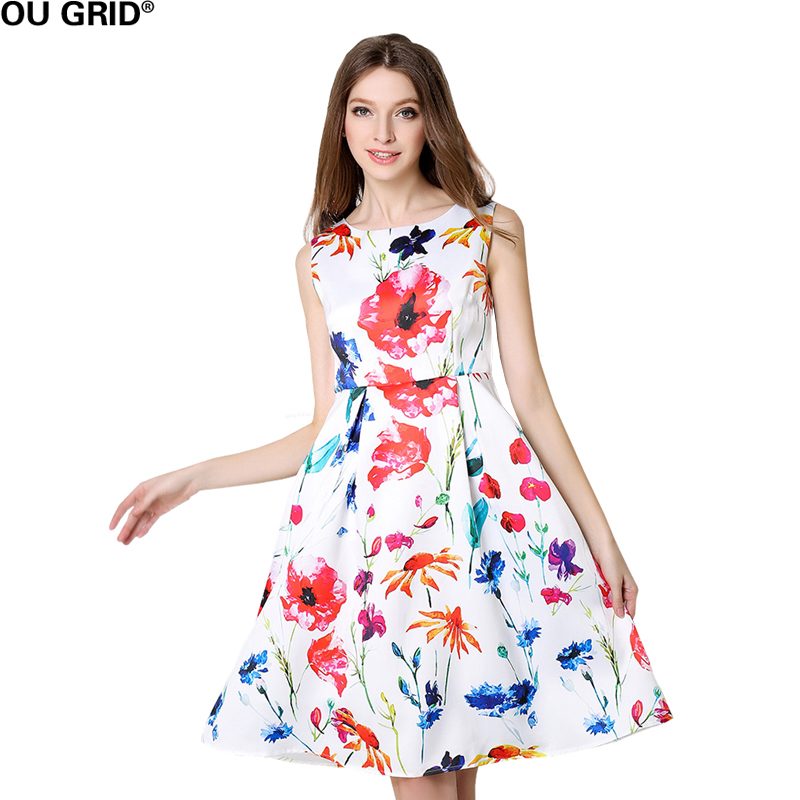 Women Summer New Arrival Floral Print Dresses Casual Loose ...