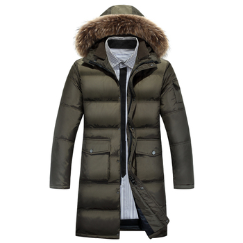Russia winter jacket X Long mens trench duck down coat and jacket men long warm mens winter parka with hood