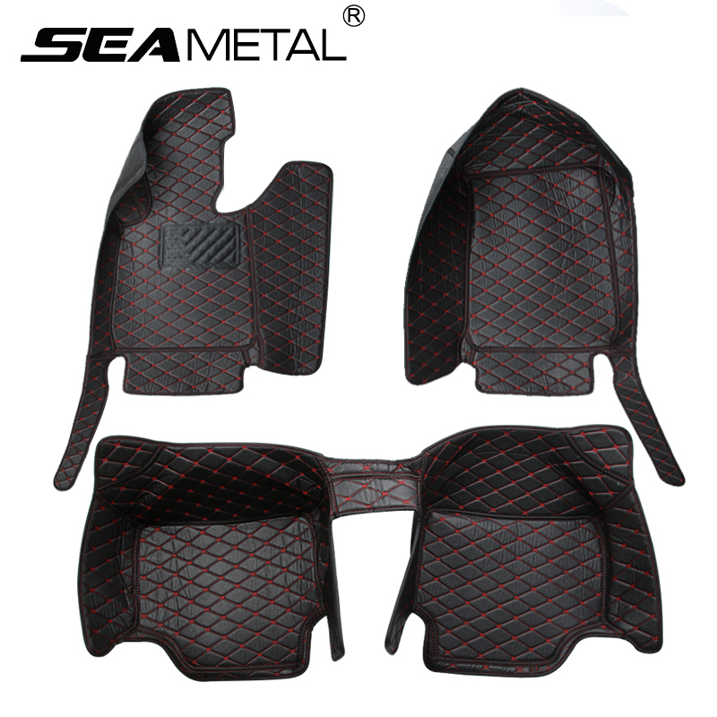 LHD For BMW F30 3 Series Sedan 2012-2016 2017 Custom Car Floor Mats Leather No Peculiar Smell Car-styling Interior Accessories 11 pcs set car styling interior latex gate slot pad non slip cup mat accessories for bmw new 3 series f30 f35 320li 316i 328 lhd