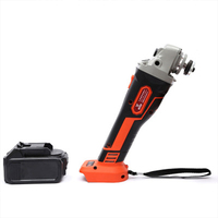 21V Cordless Brushless Grinder with 3.0Ah Rechargable Lithium Li ion Battery 100mm Angle Grinding Cutting Machine Kit