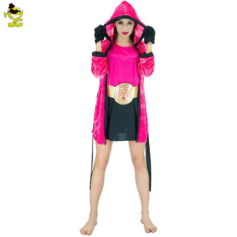 Women Boxer Costumes Knock Girl Female Boxing