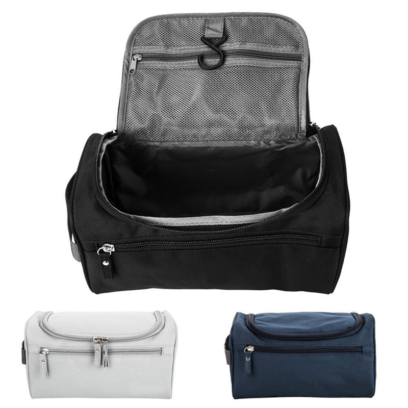 Travel Wash Bag Men Womens Toiletry Pouch Organizer Shaving Cosmetic Case Waterproof Storage Bag