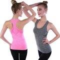 Tank Top Mujeres Niñas Chaleco Sin Bordes de Entrenamiento Camisas Para Mujeres Blusas Camiseta Tirantes Mujer Fitness Feminino Tops Para Mujer