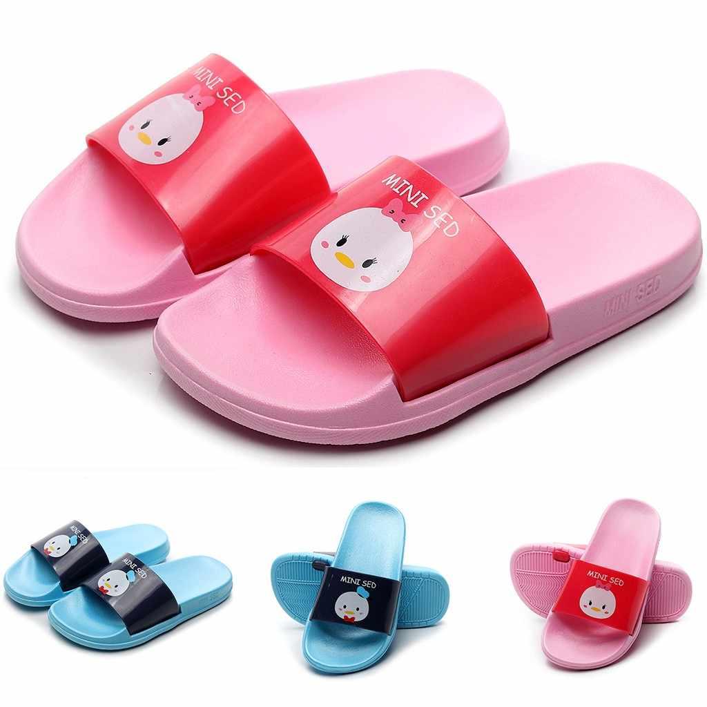 Zapatillas de bebé para niños, niñas, niñas, niños, terlik, dibujos animados, pato, estampado de animales, zapatillas, Zapatos, Zapatos