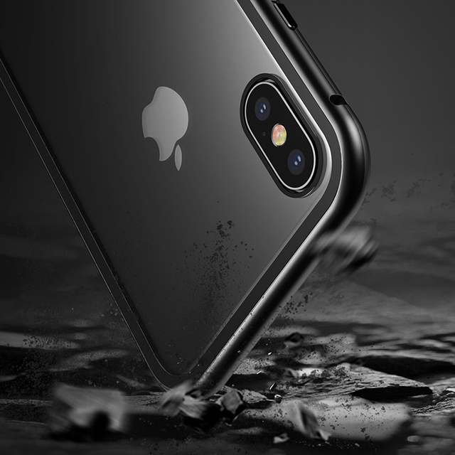 Magnetic Metal Bumper + 9H Tempered Glass Case – Apple iPhone