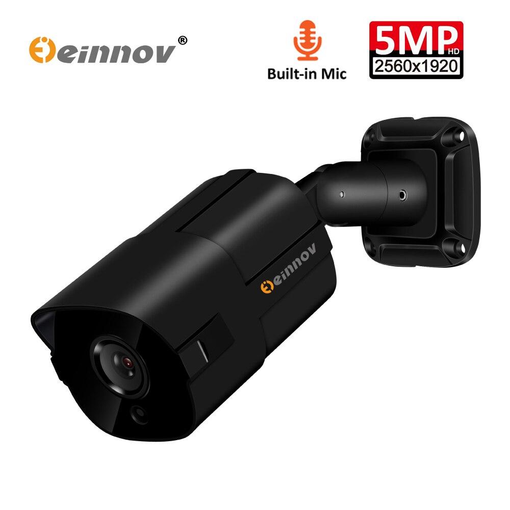 Einnov Audio Record H 265 5MP POE Home Security IP Camera Bullet Outdoor Video Surveillance Camera