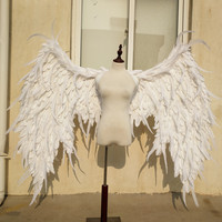 Big white Devil feather wings Cartoon performance Magazine shooting Fashion show large props Cosplay costume EMS free shipping