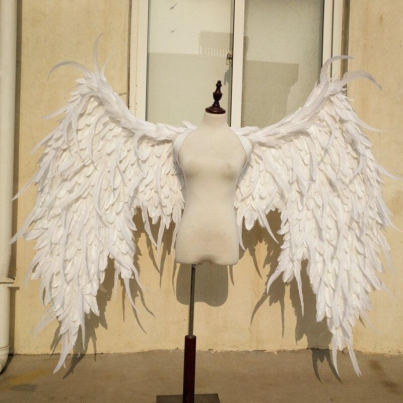 Blanco grande alas de demonio de plumas de dibujos animados de la revista de grabación de la moda de la serie de accesorios grandes Cosplay traje EMS envío gratis