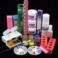 1 SET Nail Beauty Acrylic Tools 120ml Acrylic Liquid Powder Rhinestone Brush Glue Dappen Dish Acrylic Manicure Nail Kit Set