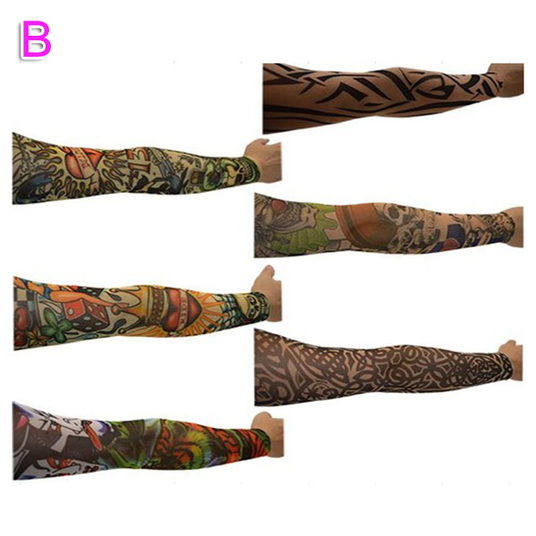 6/10/20Pcs Nylon Elastic Fake Temporary Tattoo Sleeve Body Arm Tatoo Supplies NGD88