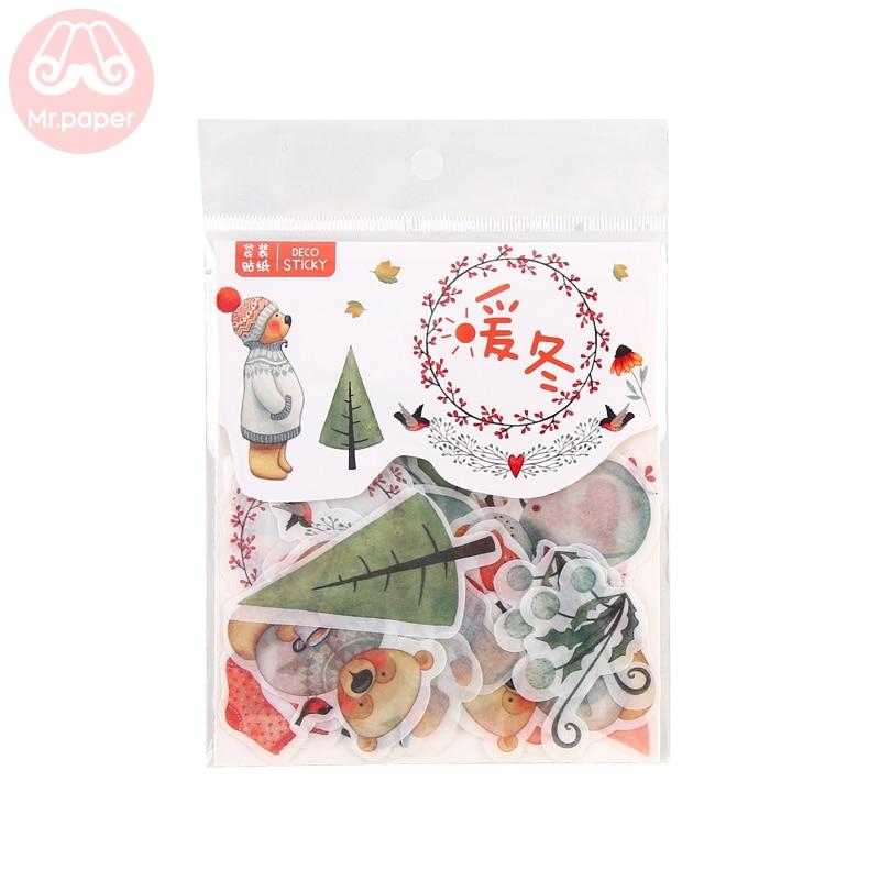 Купить с кэшбэком Mr.paper 40Pcs/bag 24 Designs D Diary Stickers Scrapbooking Warm Winner Series Japanese Kawaii Creative Stationery Stickers