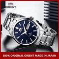 100% Oriente Original reloj de hombres mecánico automático de reloj de acero inoxidable de calendario de moda pulsera luminosa mano