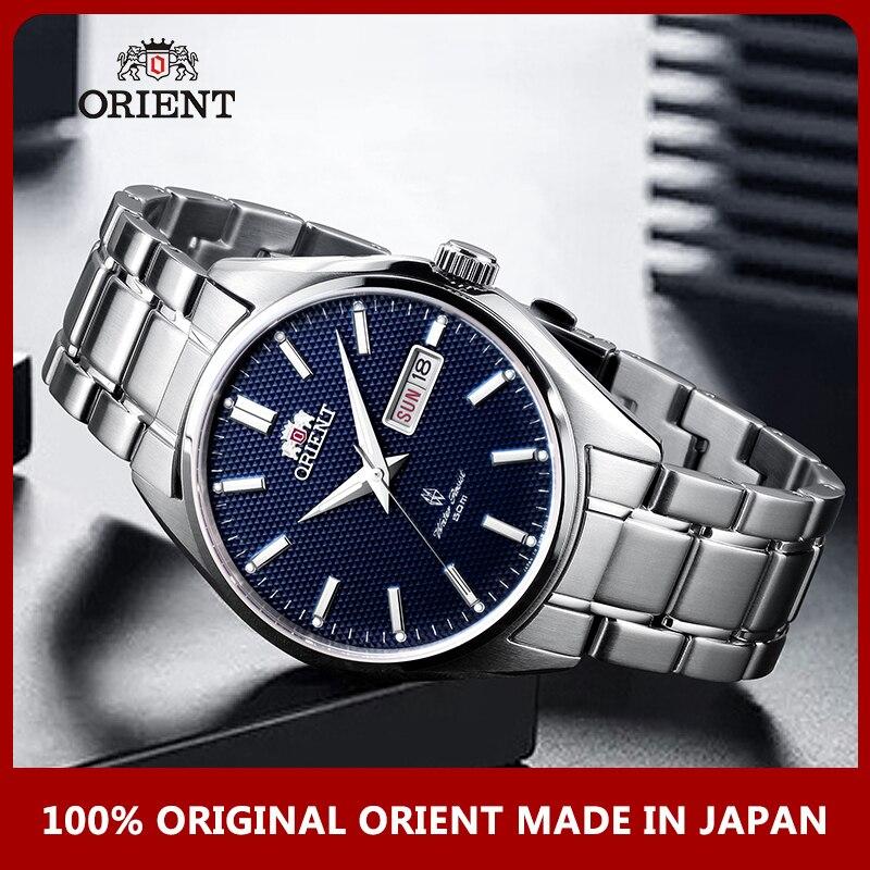 100% Original ORIENT Relógio Calendário de Moda de Aço Inoxidável Relógio Mecânico Automático dos homens de Negócios relógios de Pulso Mão Luminosa