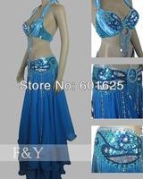 Wholesale New Belly Dance Costume Set BRA Belt 2 Piece Set Accept Any Size Tf249
