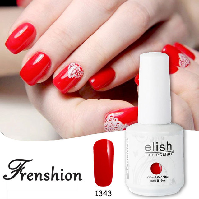 Frenshion De Noël Rouge Vernis semi permanent UV Gel Vernis À Ongles Gel  Polonais Art Coloris