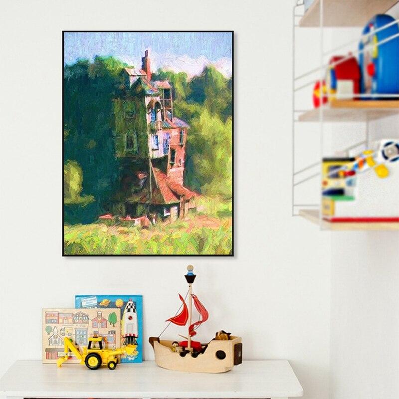 Oil Painting Canvas Print Kids Room Decor