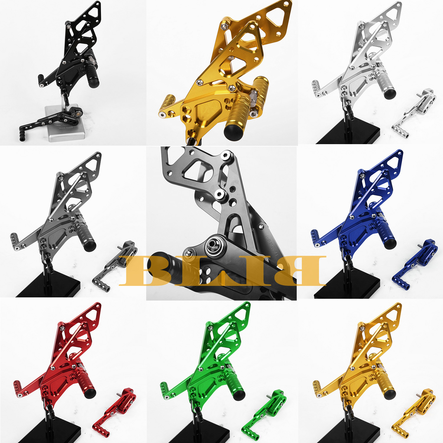 8 Colors For Suzuki GSXR1000 2009-2014 Motorbike Footpeg Hot Sale CNC Rearsets Foot Pegs Rear Set Motorcycle Adjustable Footrest