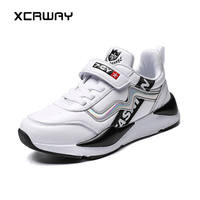 XCRWAY 2019 Spring Big Children Sneakers Breathable Mesh Youth Male Casual Kids Sneakers Soft Bottom Big Boys 'shoes Size 31 40