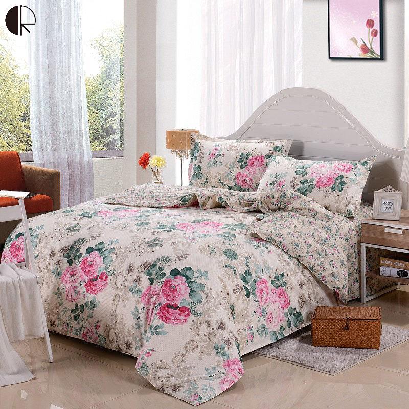 Hot Sale 100 Cotton Floral Printed Comforter Sets Duvet