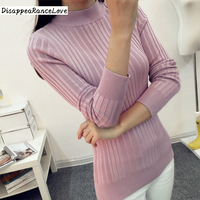 New 2016 Autumn Winter Women Sweaters And Pullovers Turtleneck Knitted Sweater Outerwear Pullover Tops Knitted Cashmere