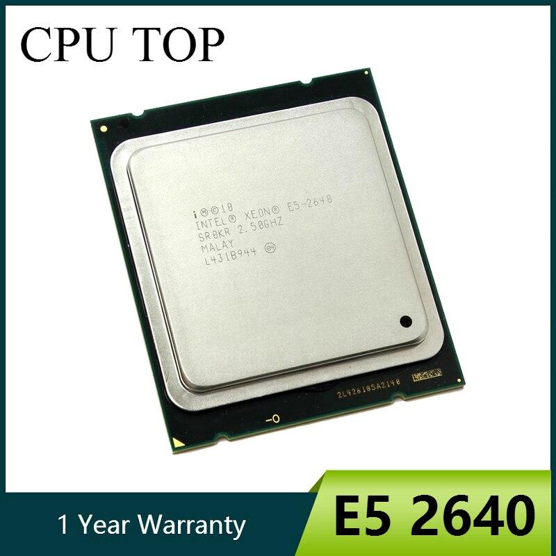 Intel xeon e5 2640 15 m cache 2.50 ghz 7.20 gt/s processore cpu