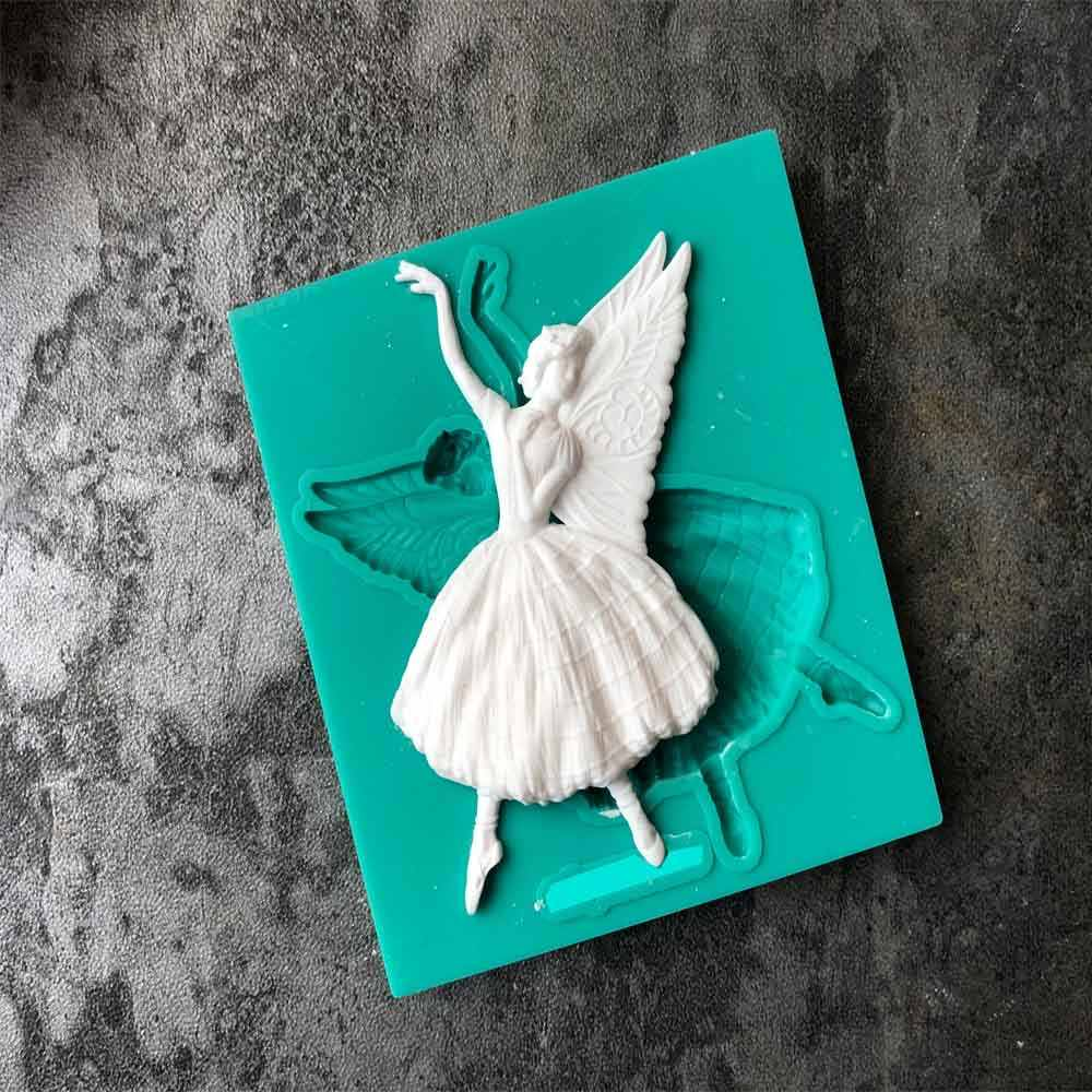 Aouke Wing Ballerina Girl Silicone Mould DIY Fondant Cake Mold Jelly Dry Pez Mold Baking Appliance J059