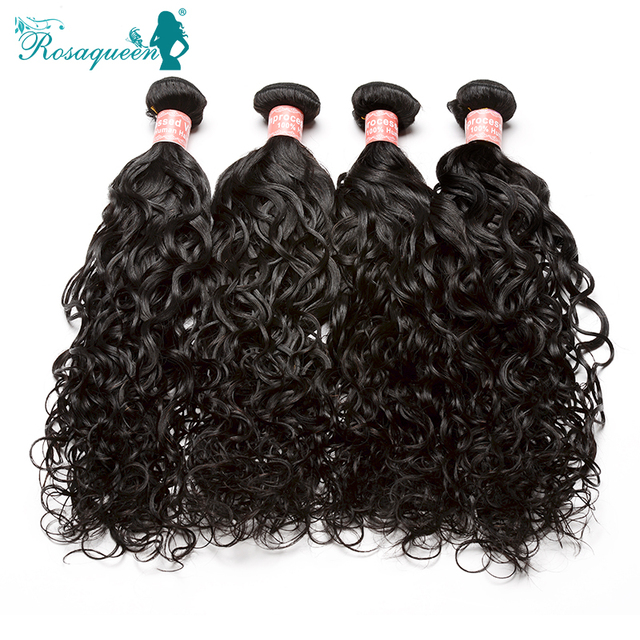 6A Peruvian Virgin Hair Wet And Wavy Human Hair Wave Bundles 4Pcs/Lot Unprocessed Peruvian Water Wave Rosa Queen Hair Products