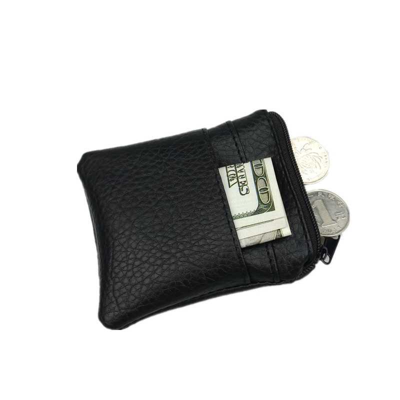 2018 Moda Pu de Couro Bolsa Da Moeda Barata Dos Homens Das Mulheres Pequeno Mini Curto Carteira Sacos Mudança Pequena Chave Titular do Cartão de Crédito negócio