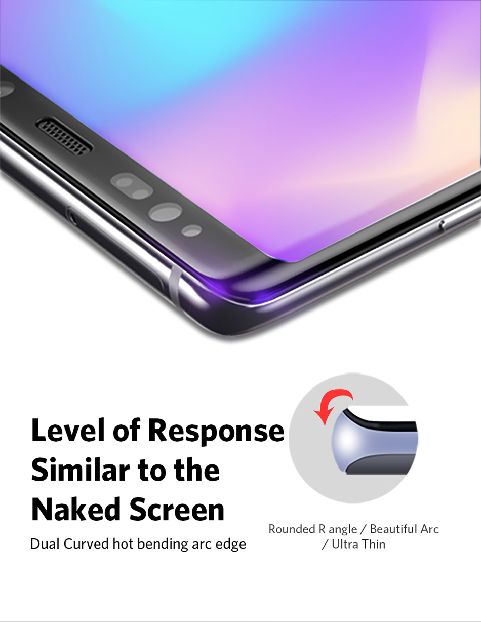 Benks Full Cover Tempered Glass 9H For Samsung Note9 0.3mm Thin Protector Screen Front Film (2)
