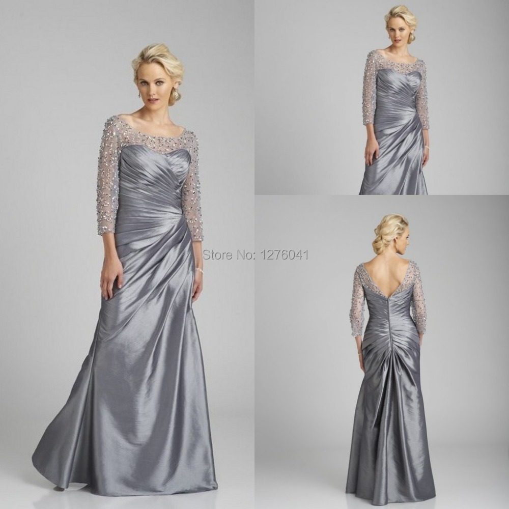 Plus size silver dresses cheap