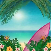 Flor Folhas Do Barco Do Mar Praia Havaí Fotografia Fundos pano de Alta qualidade Computador impresso pano de fundo da foto da parede do Vinil