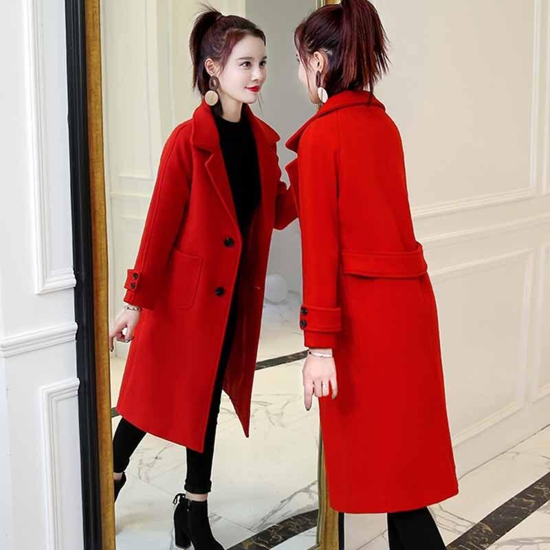 Mince Aa347 Red Outwear Black Blue Manteau Veste Couleur Long Solide SvxwT6Hq