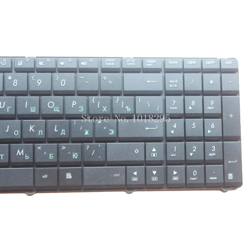 Russian Keyboard for Asus N53 X53 X54H k53 A53 N60 N61 N71 N73S N73J P52 P52F P53S X53S A52J X55V X54HR X54HY N53T laptop RU in Replacement Keyboards from Computer Office