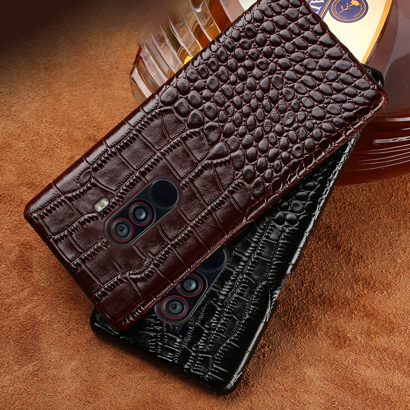 Phone case For Xiaomi Pocophone F1 Mi 5 6 8 A1 A2 Max 2 Case Crocodile Texure Back Cover For Redmi Note 4 4X 4Pro 5 5A Plus