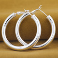 Fashion Jewelry 925 Sterling Silver Women's Round Hoop Earrings High Quality Party/Wedding Gift