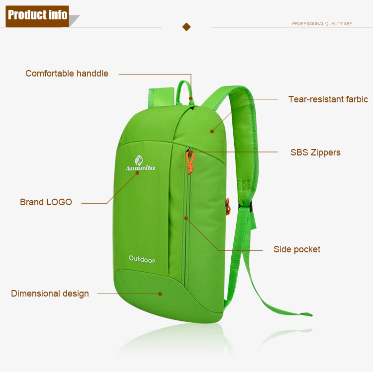 10L Ultralight Unisex Travel Waterproof Hiking Climbing Camping Backpack