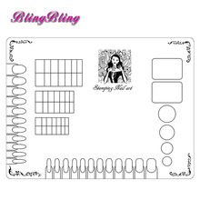 Nail Stamping Clear Silicone Nail Stencil