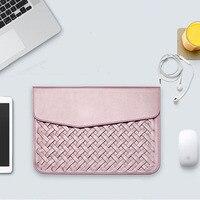 Luxury Durable Waterproof Weaving PU Leather Case For Macbook Air Retina 11 12 13 15 Fashion